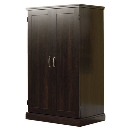 Bowery Hill Wooden Computer Armoire in Cinnamon Cherry ()