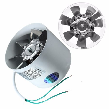 2800R/Min Duct Booster Vent Fan Metal 220V 20W 4 Inch Inline Ducting Fan Exhaust Ventilation Duct Fan Accessories (Ventilation Accessories)