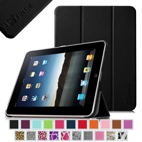 Fintie Apple iPad 1st Generation Case - Ultra Slim Lightweight PU Leather Stand Case Cover, Black