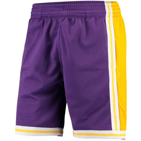 5d61987bb4cb Mitchell   Ness - Mitchell   Ness Mens Los Angeles Lakers Swingman Shorts  Purple Gold Size S - Walmart.com