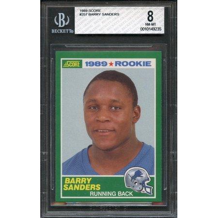 1989 Score 257 Barry Sanders Detroit Lions Rookie Card Bgs 8