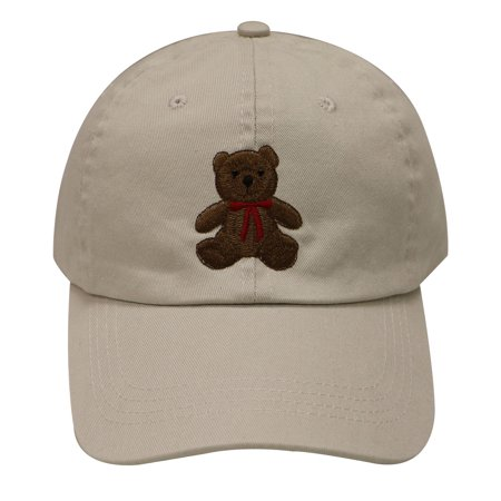 C104 Teddy Bear Cotton Baseball Cap (Putty) - Walmart.com b01a6302a8a