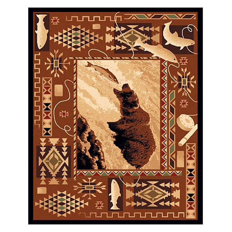 Fish and Bear Area Rug