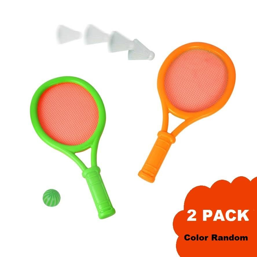 2Sets Badminton Set for Kids with 2 Rackets, Ball and Birdie