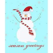 Secretly Designed Snowman Season Greetings by Secretly Spoiled Graphic Art