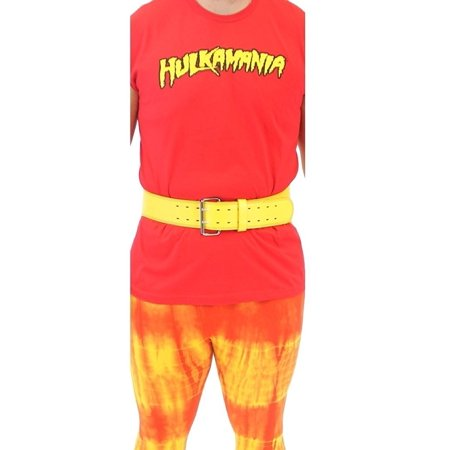Hulkamania Hulk Hogan Costume Wrestling Weight Belt](Wrestling Halloween)