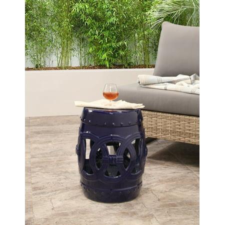 Tremendous Devon Claire Moroccan Navy Ceramic Garden Stool Set Of 2 Machost Co Dining Chair Design Ideas Machostcouk