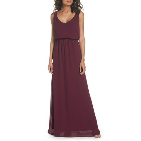 Silk Blouson Printed Dress (Show Me Your Mumu Women's Medium Blouson Gown Dress)