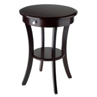 Winsome Wood Sasha Accent Table, Cappuccino Finish, Multiple Colors
