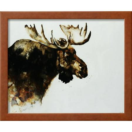 Moose Framed Print Wall Art By Sydney Edmunds - Walmart.com