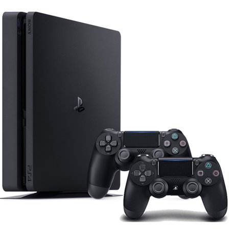 PlayStation 4 Slim 1TB Console + Extra Jet Black PS4 Wireless Controller