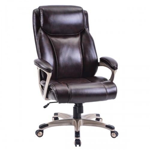 High Back Pu Leather Chair With Casters Home Office Desk Chair Swivel Adjustable Ergonomic Task Office Chair For Task Home Office Computer Chair Walmart Com Walmart Com