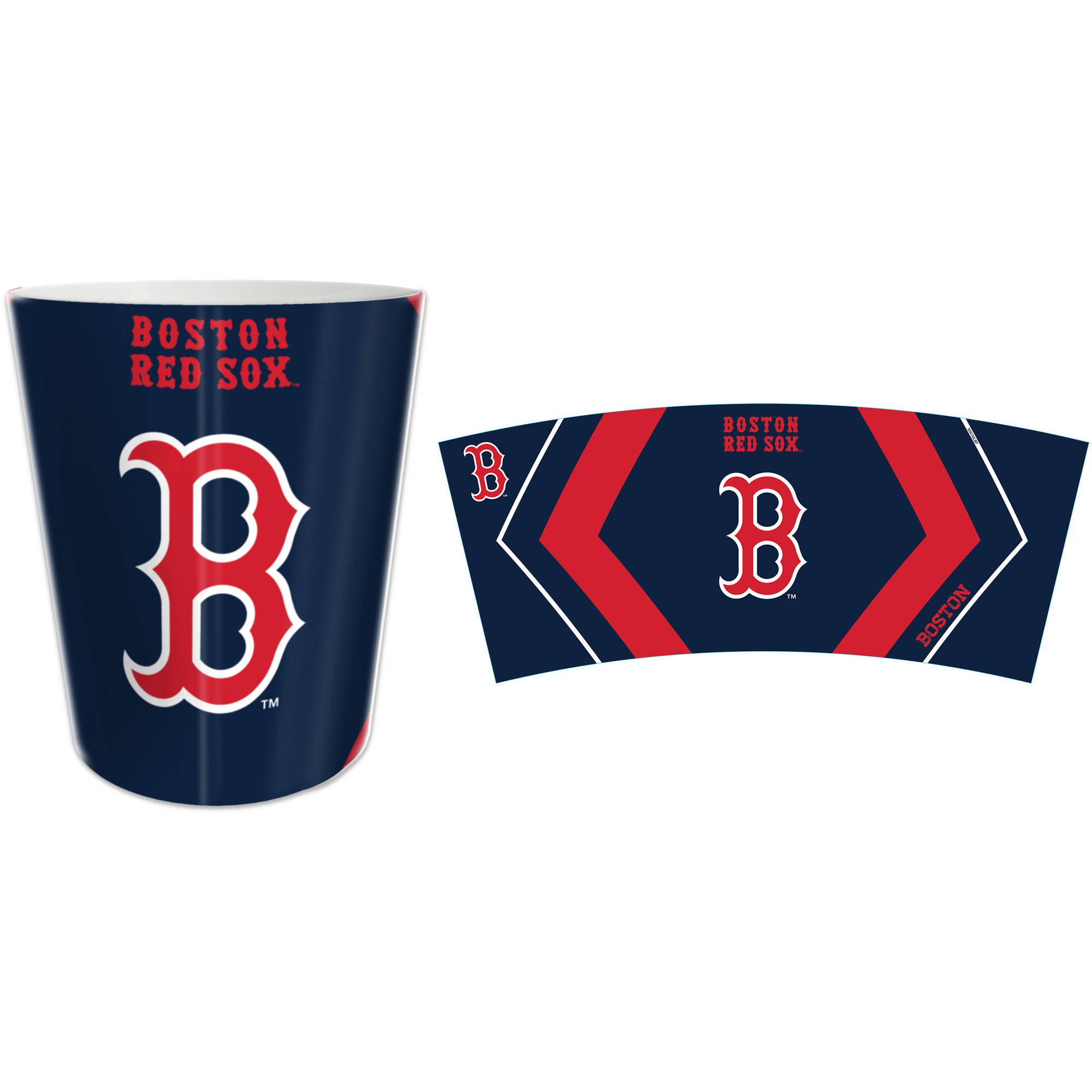 MLB Boston Red Sox Decorative Bath Collection Wastebasket