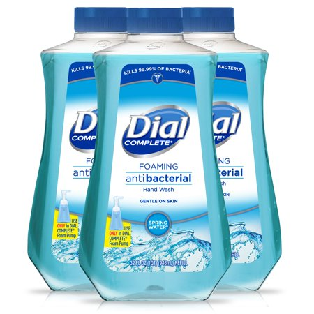 (Pack of 3) Dial Complete Antibacterial Foaming Hand Wash Refill, Spring Water, 32 Ounce ()