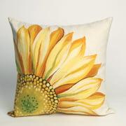 Liora Manne Sunflower Indoor / Outdoor Throw Pillow