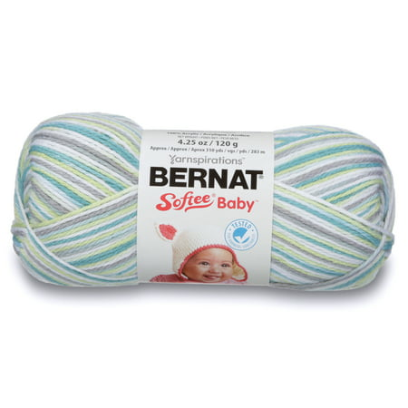 Bernat Prince Pebbles Ombre Softee Baby Yarn, 362 yards ()
