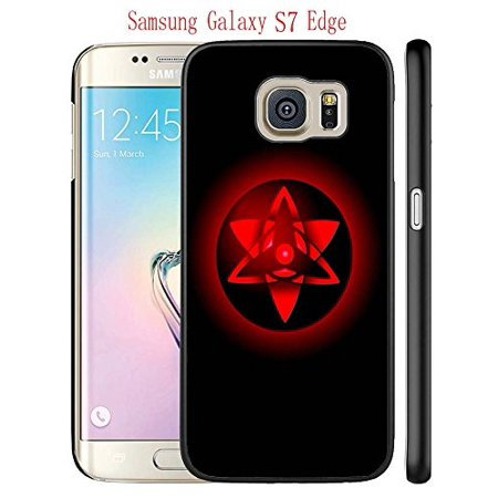 Ganma Case For Samsung Galaxy S7 Edge Case, Sasuke'S Eternal Mangekyou Sharingan Black Hard Plastic Case