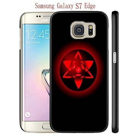 Ganma Case For Samsung Galaxy S7 Edge Case, Sasuke'S Eternal Mangekyou Sharingan Black Hard Plastic