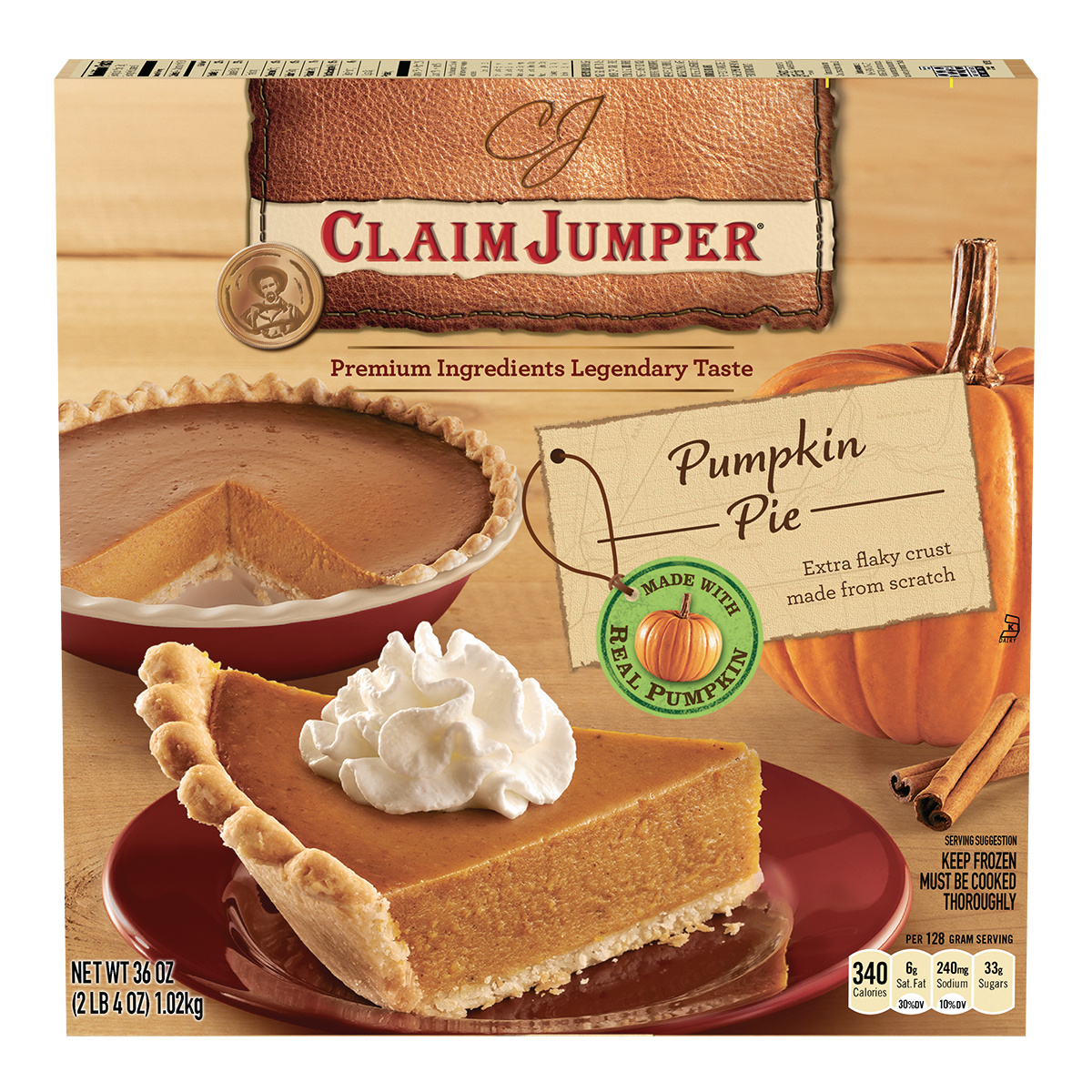 Claim Jumper Pumpkin Pie, 36 oz