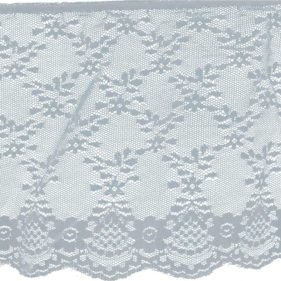 "Ruffled Fancy Lace Trim 6"" x 18yd - White"