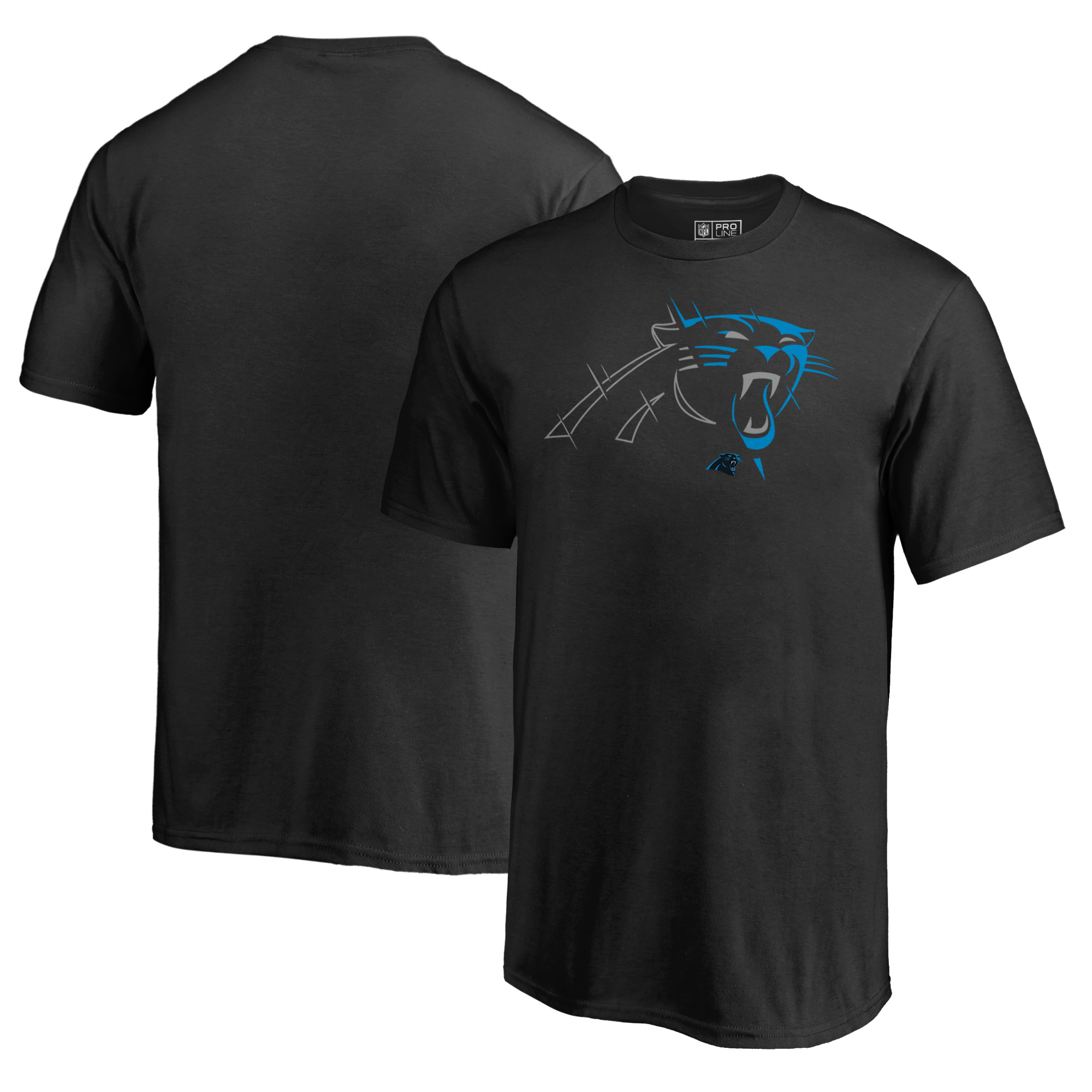 Carolina Panthers NFL Pro Line by Fanatics Branded Youth X-Ray T-Shirt - Black