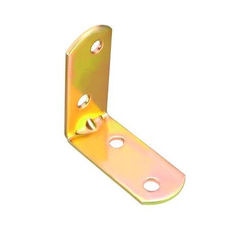(Iron Corner Brace Angle Bracket Fastener L Shape 40mmx40mmx18mm, Round End 10pcs)
