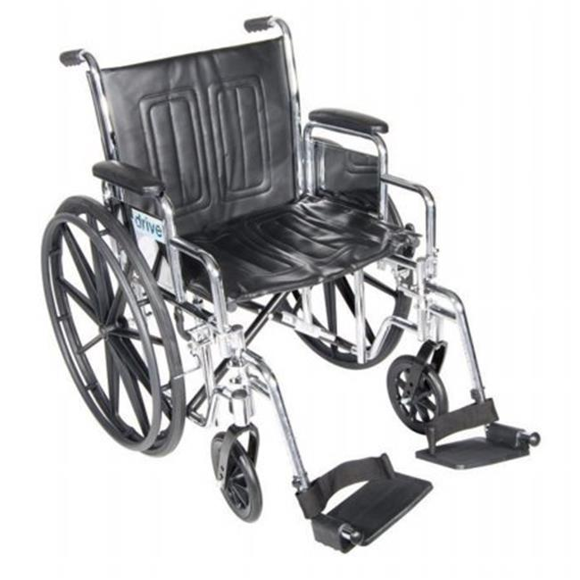 Chrome Sport Wheelchair with Various Arm Styles and Front Rigging Options- Black and Chrome