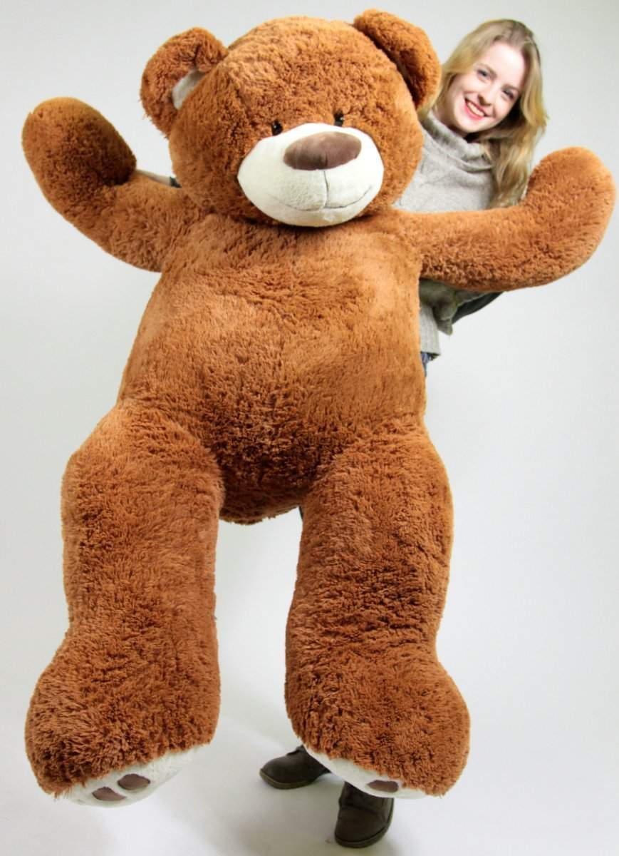 Big 5 Foot Teddy Bear Five Feet Tall Caramel Color Soft with Bigfoot Paws by BigPlush