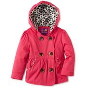 Pink Platinum Little Girls' Spring Leopard Lining Outerwear Raincoat Jacket