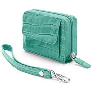 Winn 946517C Faux Croc Embossed Accordion Wallet - Teal