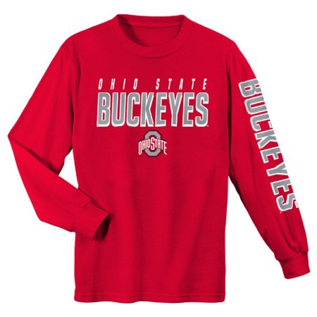 Youth Scarlet Ohio State Buckeyes Team Color Long Sleeve T-Shirt - Ohio State Beverage