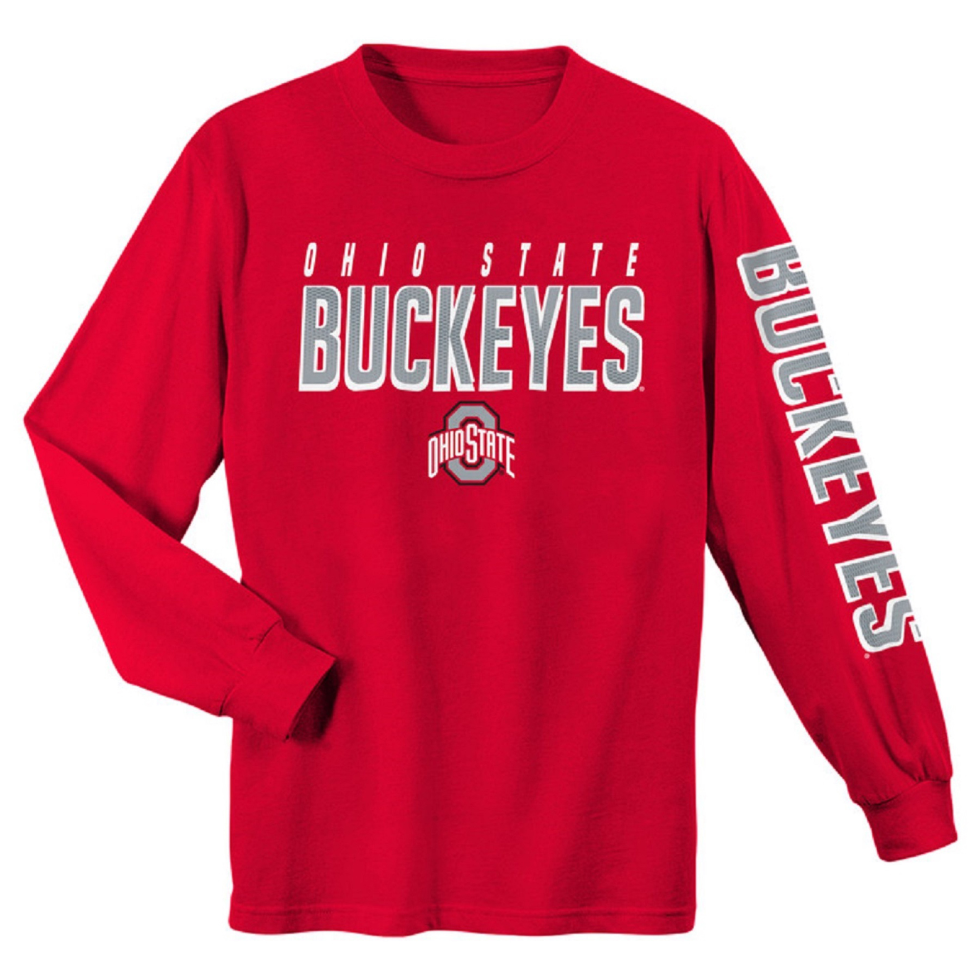 Youth Scarlet Ohio State Buckeyes Team Color Long Sleeve T-Shirt