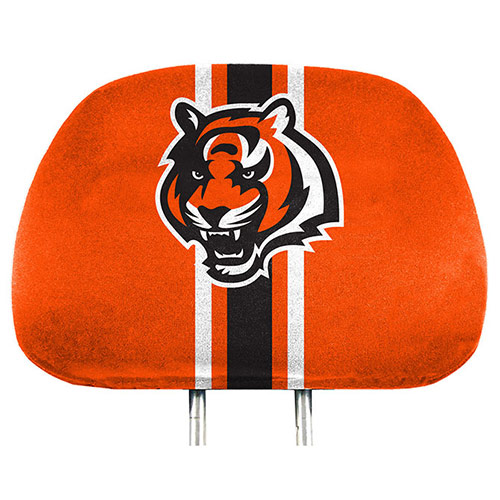 Cincinnati Bengals Two-Pack Printed Headrest Cover - No Size