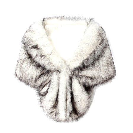 - Bridal Fur Lapel Shawl Butterfly Shaped Shawl Faux Fur Coat