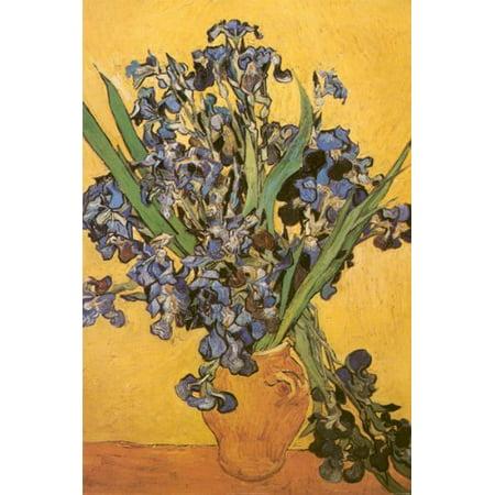 Les Iris by Vincent Van Gogh 36x24 Art Print Poster Wall D?cor Floral Still Life Famous Museum Masterpiece