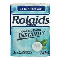 RolaidsExtra Strength Antacid Tablets, Mint 3x10ct Rolls