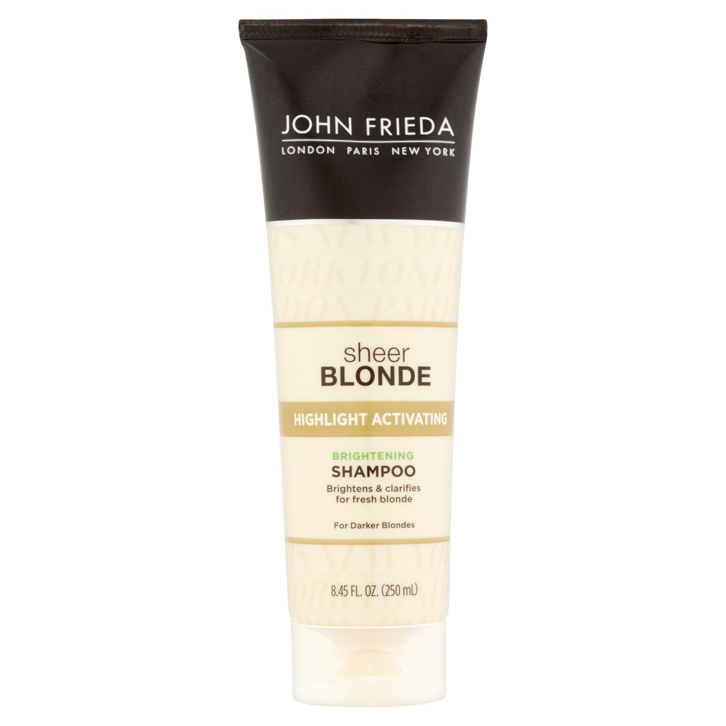 John Frieda Sheer Blonde Highlight Activating Brightening Shampoo, Darker Blondes, 8.45 Fl Oz