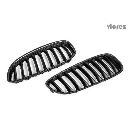 - Vicrez BMW Z4 E85 E86 2003-2009 Carbon Fiber Kidney Grille - vz100386