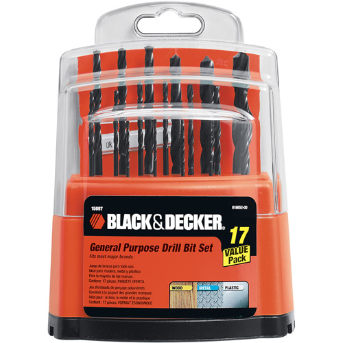 Black & Decker 17-piece Workbench Drill Bit Set, 15097
