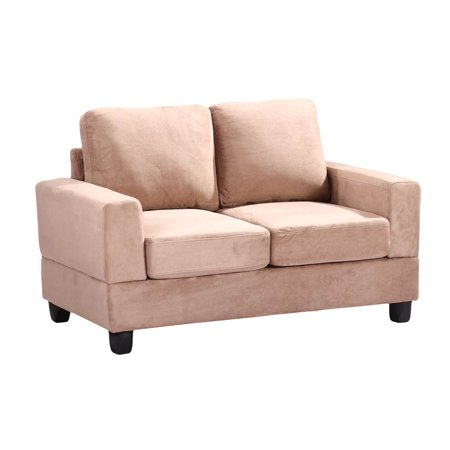 Suede Leather Loveseat