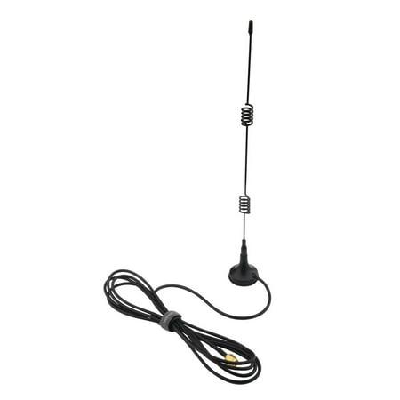 Insten 7 dBi 2.4 GHz 802.11b/g Omni WiFi Antenna RP-SMA Magnet 2.4 Ghz Grid