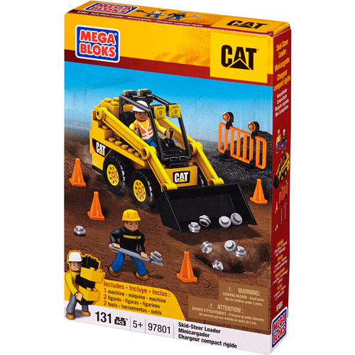 Mega Bloks Hometown CAT Skid-Steer Loader Building Set