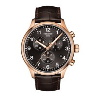 Tissot Men's Swiss Chronograph Chrono XL Classic T-Sport Brown Leather Strap Watch T1166173605701