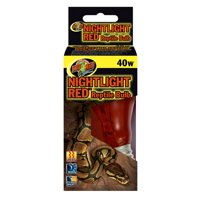 Zoo Med Laboratories Nightlight Red™ 40 Watt Reptile Bulb