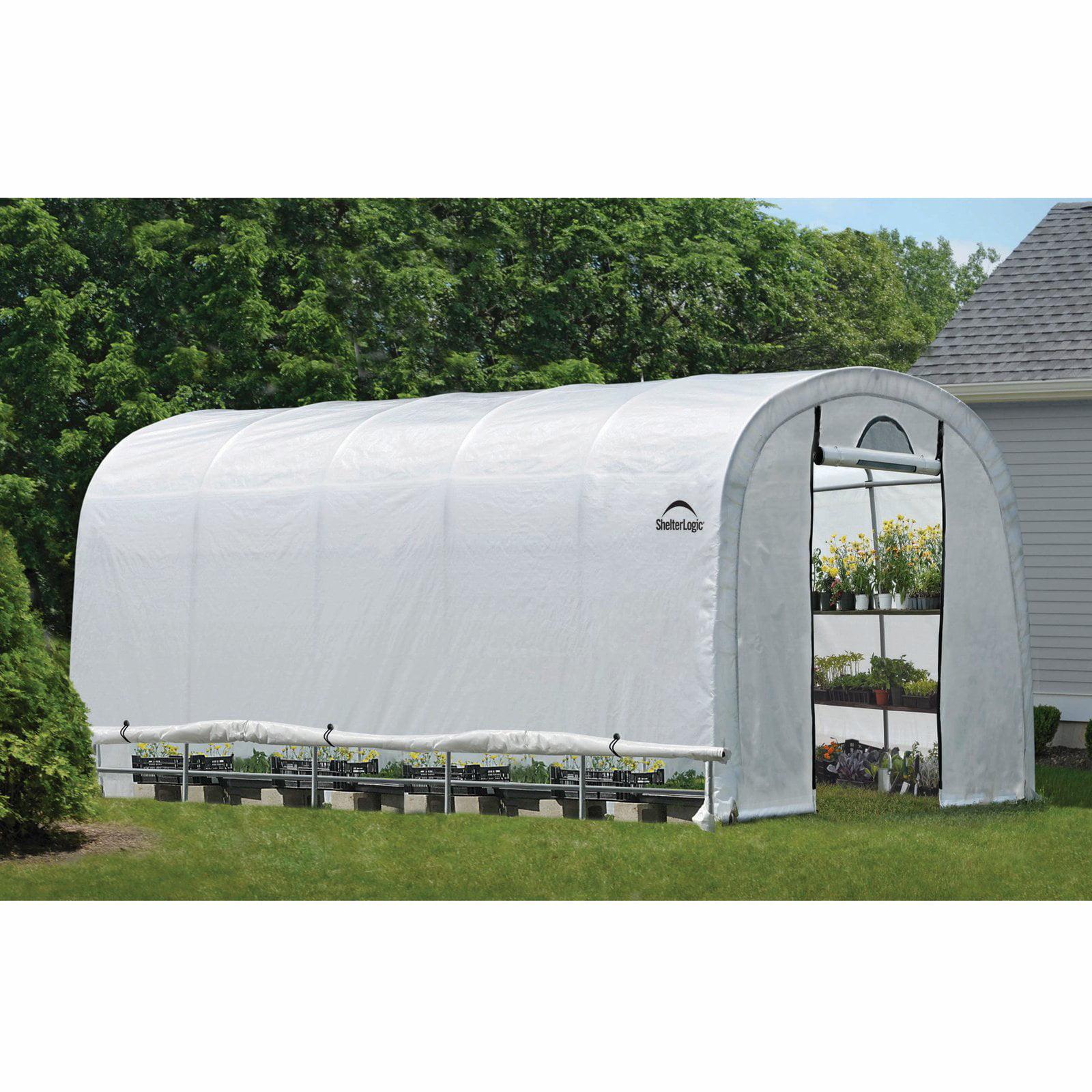 GrowIt Heavy Duty Walk-Thru Greenhouse Round-Style, 12' x 20' x 8' by ShelterLogic
