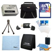 Canon Loaded Value 8GB Card and NB-10L Battery Kit For Canon Powershot SX40, SX50, G15 & G1X - Includes NB-10L Replacement Battery, 8GB Memory Card, Carrying Case, USB 2.0 Card Reader, Mini Tripod, 3