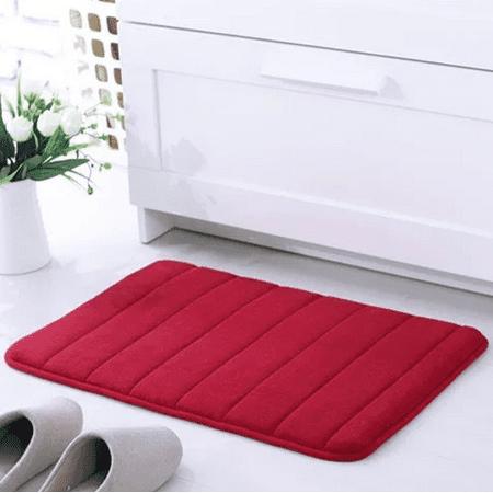160x50CM Non-Slip Back Soft And Long Memory Foam Mat 100% Cashmere Coral Bathroom Bedroom Bath Mat Shower Door Mat Red  - image 8 de 8