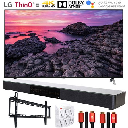 LG 55NANO90UNA 55 Nano 9 4K UHD TV AI ThinQ (2020) with Deco Gear Soundbar Bundle