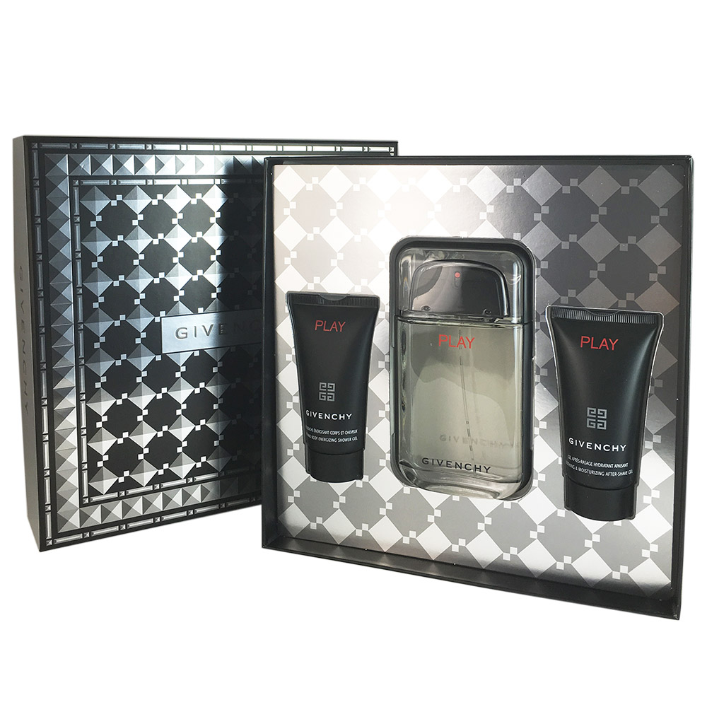 Givenchy Play Men 3 Piece Gift Set 3.3 oz Eau De Toilette Spray