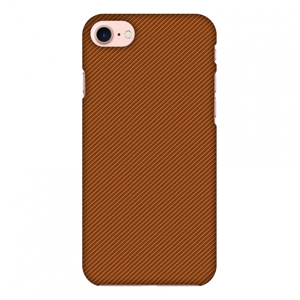 iPhone 8 Case - Autumn Maple Texture, Hard Plastic Back Cover. Slim Profile Cute Printed Designer Snap on Case with Screen Cleaning Kit